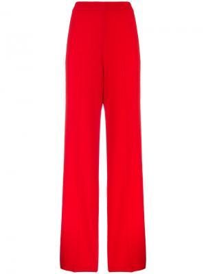 Широкие брюки  с завышенной талией Roland Mouret. Цвет: красный