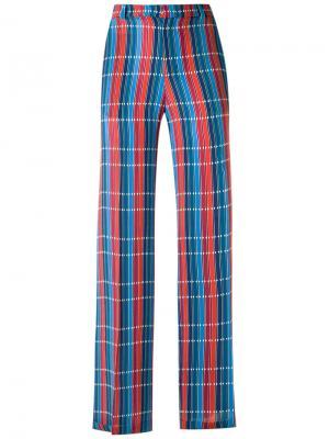 Checked trousers Reinaldo Lourenço. Цвет: синий