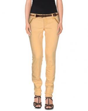 Джинсовые брюки MET & FRIENDS. Цвет: абрикосовый