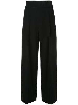Укороченные брюки клеш H Beauty&Youth. Цвет: чёрный