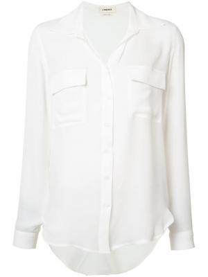 Шелковая рубашка с карманами Lagence L'agence. Цвет: белый