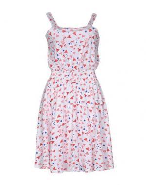 Короткое платье IVANA HELSINKI. Цвет: белый