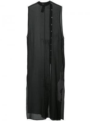 Прозрачное платье без рукавов Isabel Benenato. Цвет: чёрный