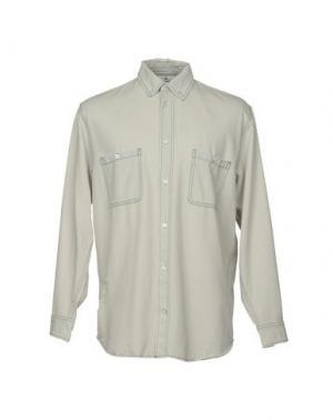 Джинсовая рубашка CHEAP MONDAY. Цвет: небесно-голубой