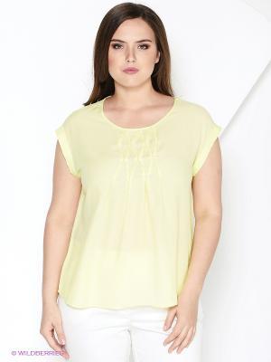 Блузка КАЛIНКА. Цвет: светло-желтый