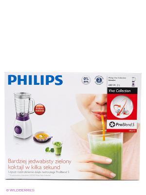 Блендер электрический Philips HR2173/00. Цвет: белый, фиолетовый