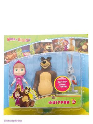 Набор фигурок Играем вместе маша и медведь. Цвет: коричневый, серый, фуксия