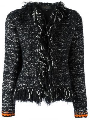 Пиджак с бахромой Giambattista Valli. Цвет: чёрный