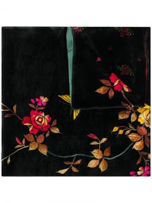 Floral velvet scarf Pierre-Louis Mascia. Цвет: чёрный