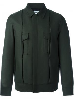 Куртка со складками Chalayan. Цвет: зелёный