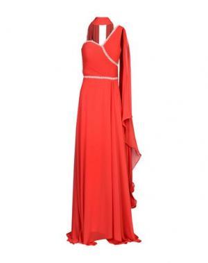 Длинное платье MUSANI COUTURE. Цвет: красный