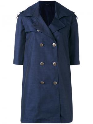 Пальто на пуговицах Tagliatore. Цвет: синий