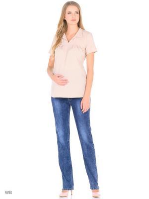 Джинсы для беременных 40 недель. Цвет: синий