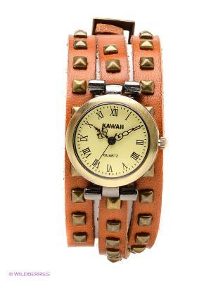 Часы Kawaii Factory. Цвет: светло-коричневый
