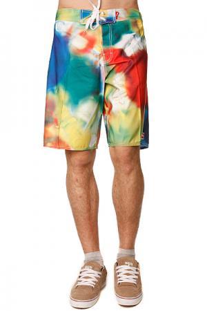 Пляжные шорты  Creep 22 Boardie Multi Globe. Цвет: красный,зеленый