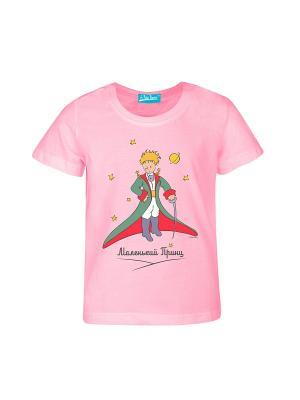 Футболка Маленький Принц со шпагой. Цвет: розовый