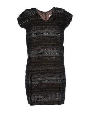 Короткое платье INTROPIA. Цвет: стальной серый