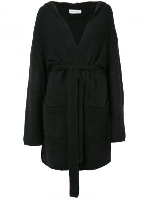Пальто-кардиган с поясом Beau Souci. Цвет: чёрный