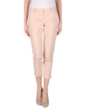 Повседневные брюки TWELVE-T. Цвет: светло-розовый