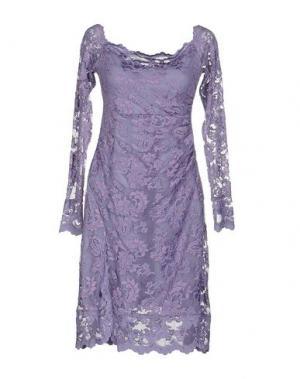 Короткое платье OLVI'S. Цвет: сиреневый