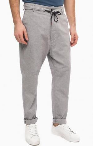 Серые хлопковые брюки на пуговицах Antony Morato. Цвет: серый