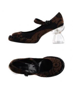 Туфли SIMONE ROCHA. Цвет: коричневый