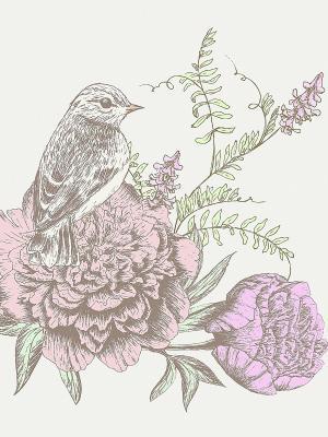 Наволочка Соловьи Матренин Посад. Цвет: розовый, серый