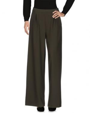 Повседневные брюки + - UGUALE. Цвет: зеленый-милитари
