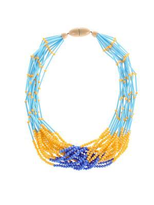 Колье Olere. Цвет: желтый, голубой, синий