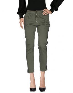 Повседневные брюки SHIKI. Цвет: зеленый-милитари