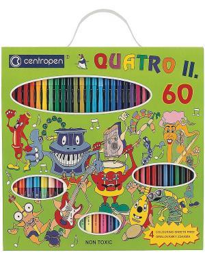 Детский подарочный набор QUATRO II, 60 предметов Centropen. Цвет: зеленый