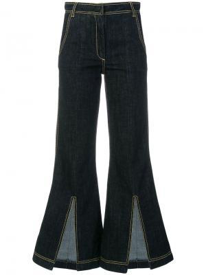 Укороченные брюки клеш Each X Other. Цвет: синий