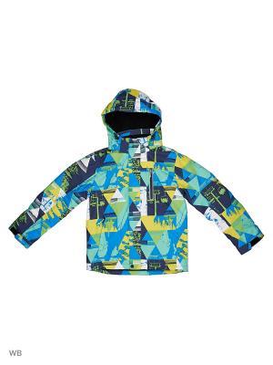 Куртка High Experience. Цвет: синий, желтый, зеленый