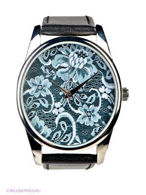Часы Упавшие на бирюзовом Mitya Veselkov. Цвет: черный