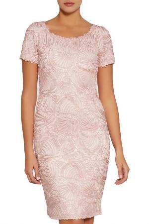 Коктейльное платье Gina Bacconi. Цвет: розовый