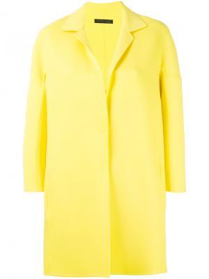 Пальто строгого кроя Fabiana Filippi. Цвет: жёлтый и оранжевый