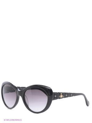 Очки солнцезащитные Vivienne Westwood. Цвет: серый, черный