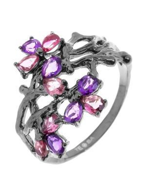 Кольцо Teosa. Цвет: лиловый
