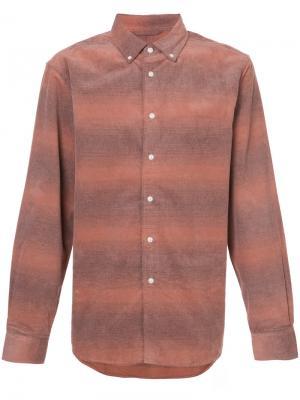 Полосатая рубашка Saturdays Nyc. Цвет: жёлтый и оранжевый