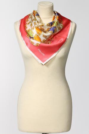 Платок Pollini. Цвет: мультицвет, розовая кайма