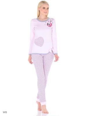 Домашний костюм женский (джемпер, брюки) MARSOFINA. Цвет: розовый