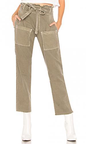 Укороченные брюки faro NSF. Цвет: оливковый