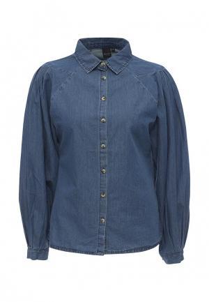 Рубашка джинсовая LOST INK. Цвет: синий