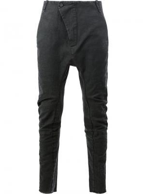 Узкие брюки с заниженным шаговым швом Masnada. Цвет: чёрный