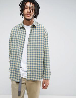 Zeffer Фланелевая расклешенная рубашка. Цвет: желтый