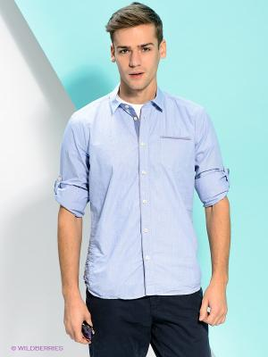 Рубашка PEPE JEANS LONDON. Цвет: голубой