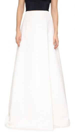 Макси-юбка из плотной шелковой ткани KAUFMANFRANCO. Цвет: белый