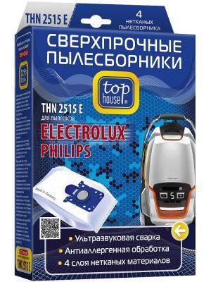 Top house THN 2515 E Сверхпрочные нетканые пылесборники 4 шт. Цвет: синий