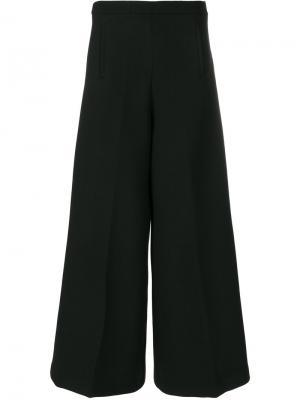 Широкие укороченные брюки Vivetta. Цвет: чёрный