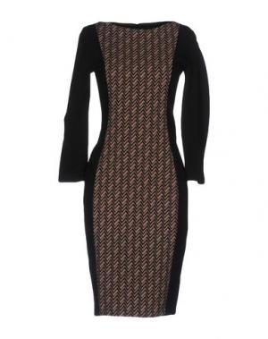 Платье до колена 1-ONE. Цвет: черный